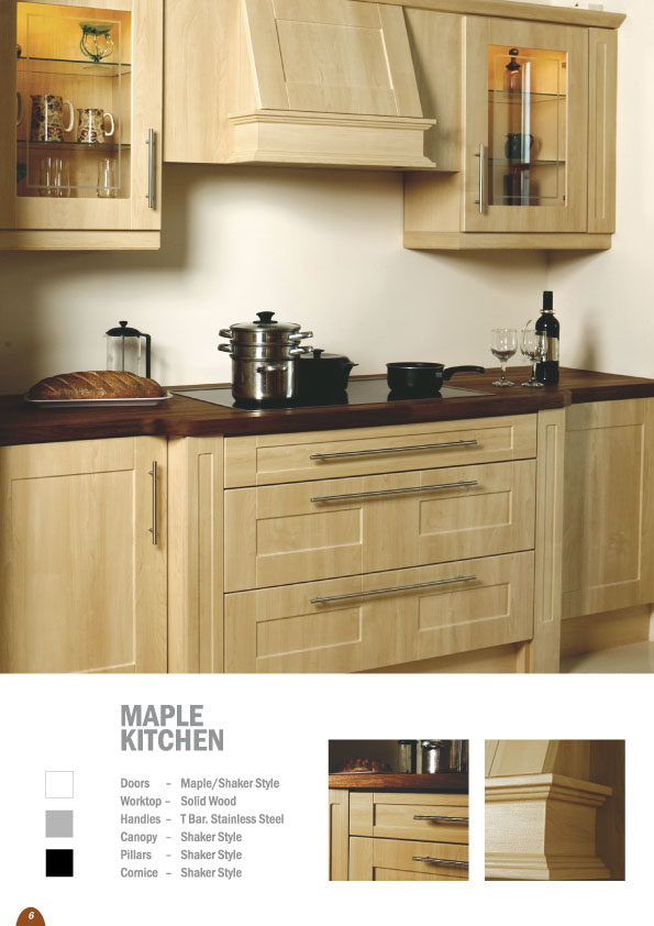 Maple Ex demo kitchen for sale